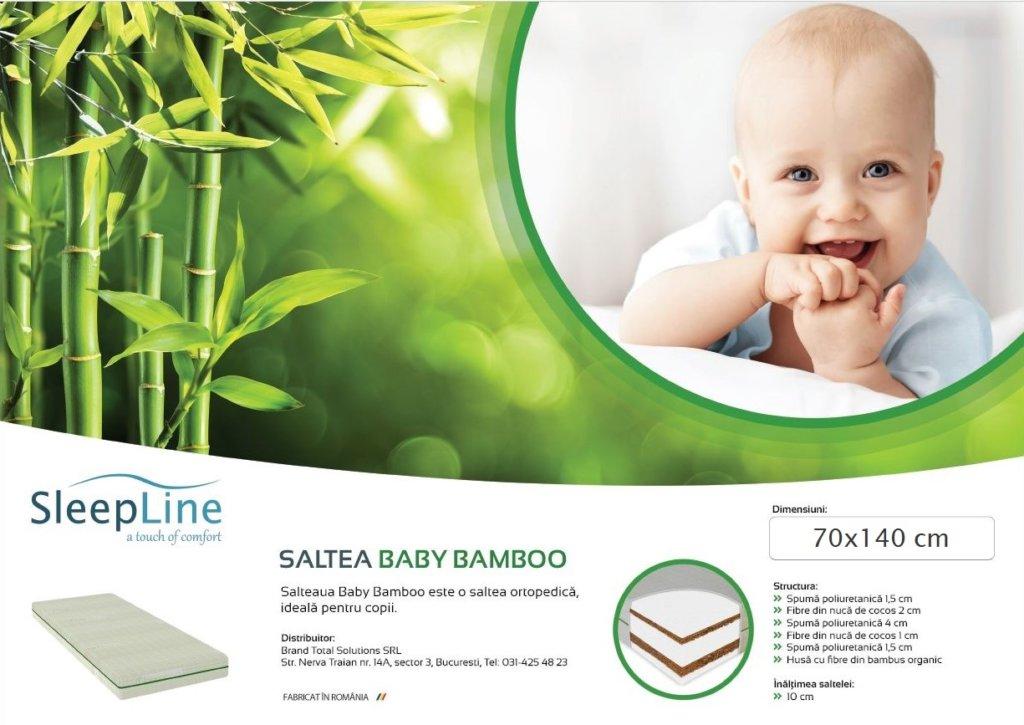 Eticheta saltea Sleepline Baby Bamboo
